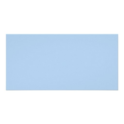 Placid Light Blue Color Trend Blank Template Photo Greeting Card