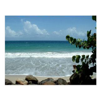 Plage (Beach), Le Diamant - Martinique, FWI Postcard