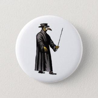 plague-doctor-3 6 cm round badge