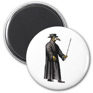 plague-doctor-3 6 cm round magnet