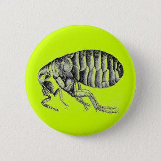 Plague flea 6 cm round badge