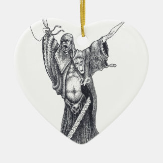 Plague Monk Sketch Ceramic Heart Decoration