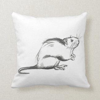 Plague rat sketch pillow