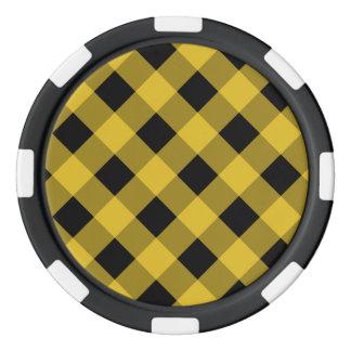 Plaid 1 Freesia Set Of Poker Chips