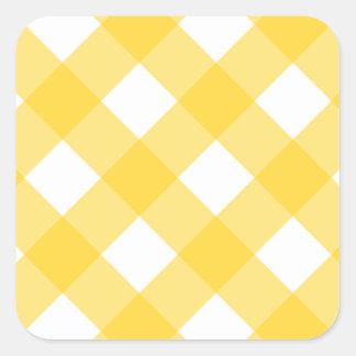Plaid 1 Freesia Square Sticker