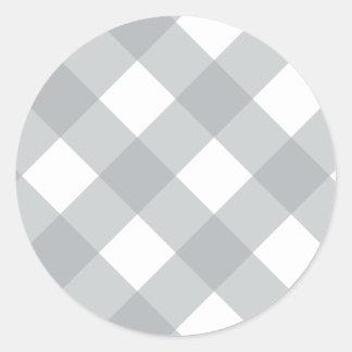 Plaid 1 Paloma Round Sticker