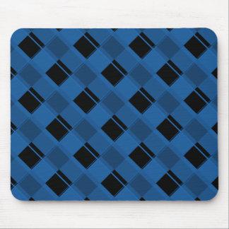 Plaid 3 Dazzling Blue Mousepads