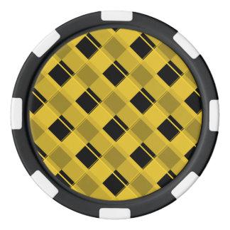Plaid 3 Freesia Set Of Poker Chips