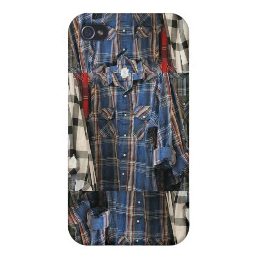 Plaid 80's Hipster Flannel Shirts 4 4S  Cover For iPhone 4