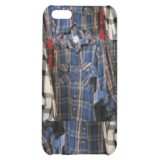 Plaid 80's Hipster Flannel Shirts 4 4S  iPhone 5C Cases