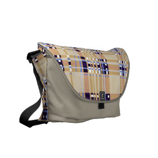 Plaid Abstract 13 Messenger Bags