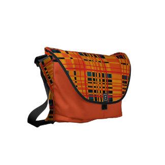 Plaid Abstract 16 Messenger Bag