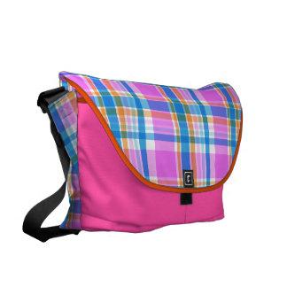 Plaid Abstract 17 Messenger Bag
