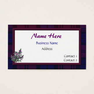 Plaid and Heather Business Card