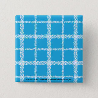Plaid Aqua 15 Cm Square Badge