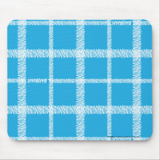Plaid Aqua Mouse Mat
