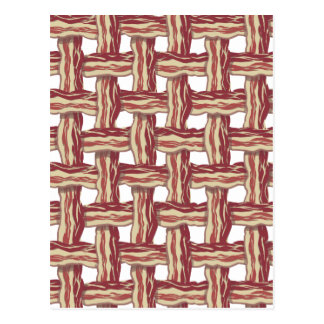 Plaid Bacon Design Postcard