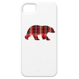 Plaid bear phone cover. barely there iPhone 5 case