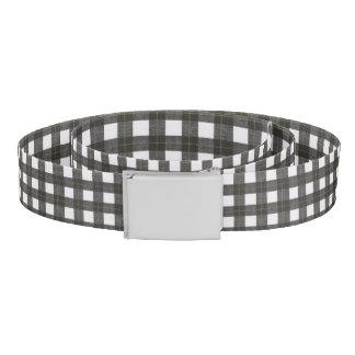 plaid black white country rustic stylish belt
