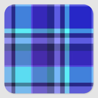 Plaid Blue Purple Stickers