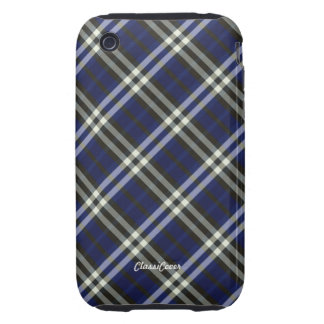 Plaid Blue Yellow Case Mate iPhone 3 Tough Cover