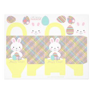 Plaid Bunny Box Template 21.5 Cm X 28 Cm Flyer