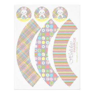 Plaid Bunny Cupcake Wrappers 2 21.5 Cm X 28 Cm Flyer