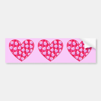 Plaid Candy Hearts Bumper Stickers