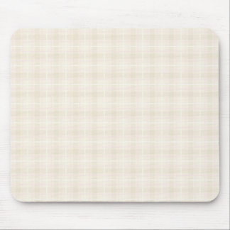 Plaid Check Pattern in Pale Pink and Beige Mouse Mat