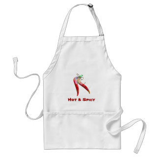 Plaid Chili Peppers Apron