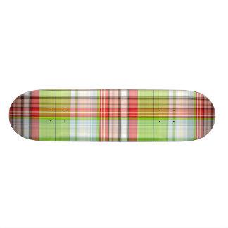 Plaid Christmas Bear Skateboards