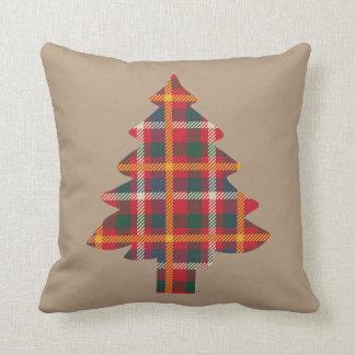 Plaid Christmas Tree Cushion