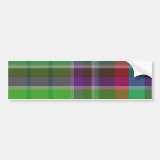 Plaid Colorful Bumper Sticker