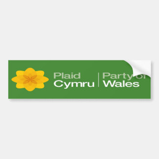 Plaid Cymru Party of Wales Bumper Sticker