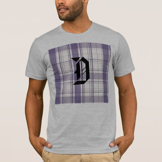 plaid, D ENGLISH PURPLE T-Shirt