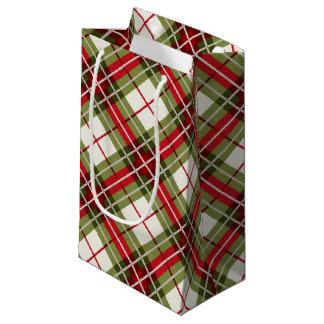 Plaid Deer Antler Small Gift Bag
