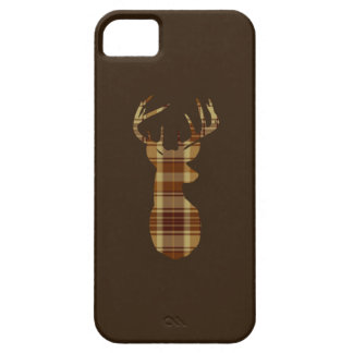 Plaid Deer Silhouette Cell Phone Case