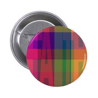 Plaid Faith Button