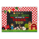 Plaid Farm Birthday Thank you Note Card