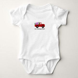Plaid Farm truck Hauling Giant Watermelon Slice Baby Bodysuit