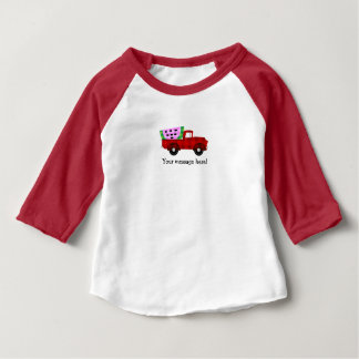 Plaid Farm truck Hauling Giant Watermelon Slice Baby T-Shirt