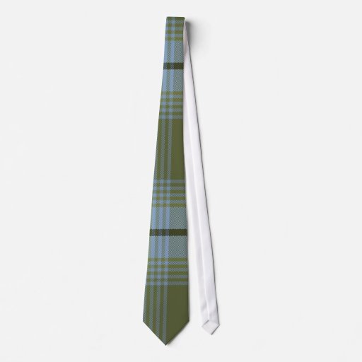Plaid for Dad Tie (Blues 'n Greens)