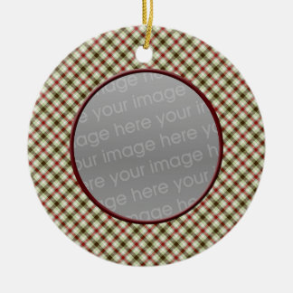 plaid fun photo Ornaments
