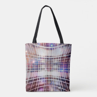 Plaid Galaxy Tote Bag