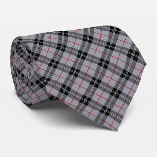 Plaid / gingham pattern grey and black tie