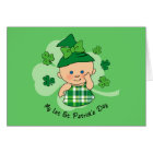 Plaid Girl 1st St. Patrick's Day Card