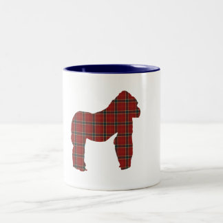 Plaid Gorilla Two-Tone Coffee Mug