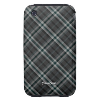 Plaid Gray Green Case Mate iPhone 3 Tough Cases