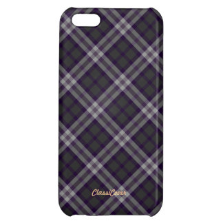 Plaid Gray Purple Pattern Savvy Cover For iPhone 5C