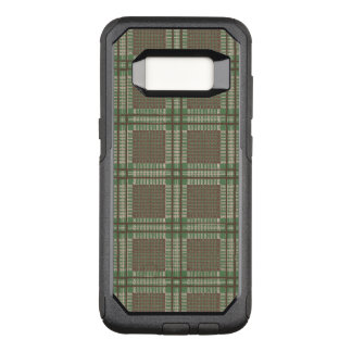 Plaid green and brown OtterBox commuter samsung galaxy s8 case